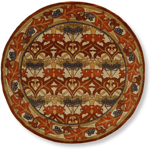 round Dartford craftsman rug