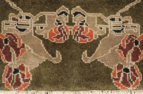 Largo craftsman rug closeup