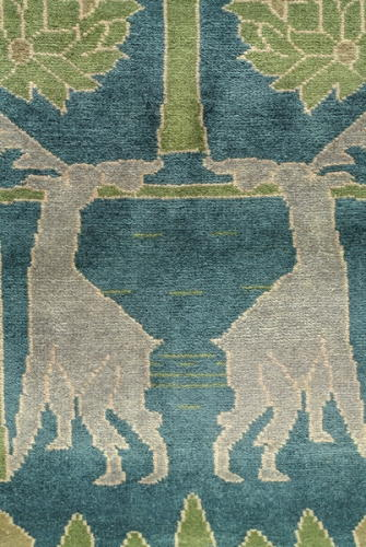 peace garden craftsman rug closeup 1