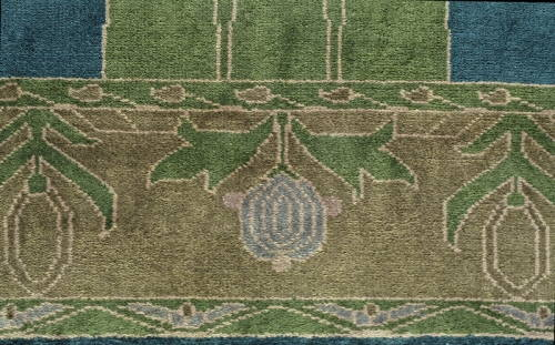 peace garden craftsman rug closeup 2