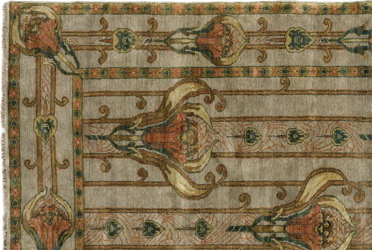 Heirloom Lilies Arts And Crafts Rug
