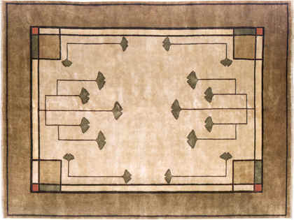 Traditional Gingko Rug